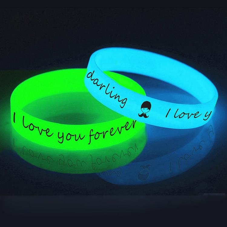 fluorescent silicone wristband,glow wristbands