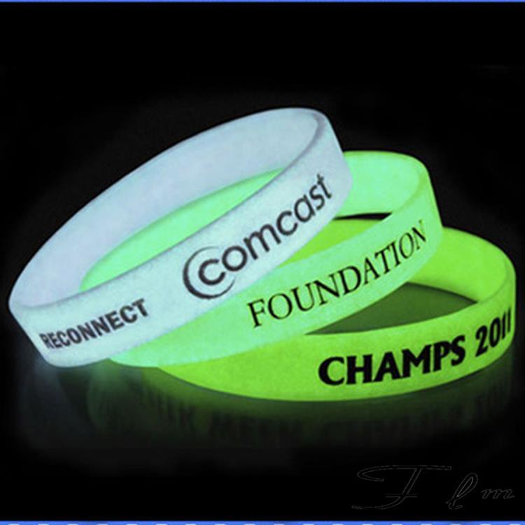 Fluorescent Silicone Wristband