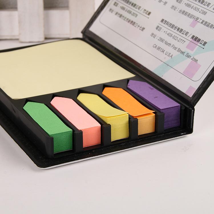 Custom sticky note in leather case, sticky notes box