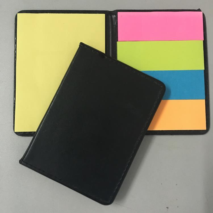 PU leather cover sticky notes box