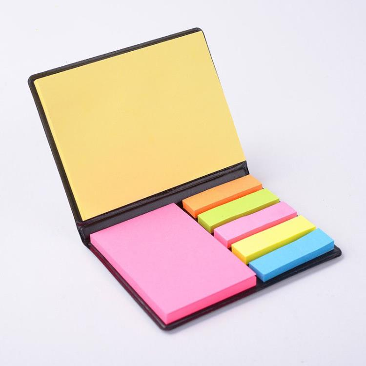 PU Cover Multicolor Sticky Notes Memo Set Calendar Custom Sticky Note Memo Set