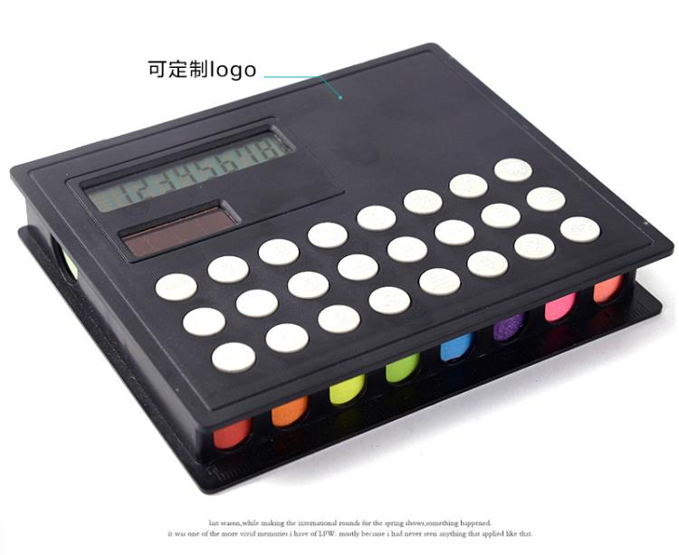 PU cover Memo sticky note pads with calculator