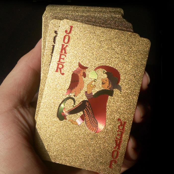 gold playing cards golden foil plated poker