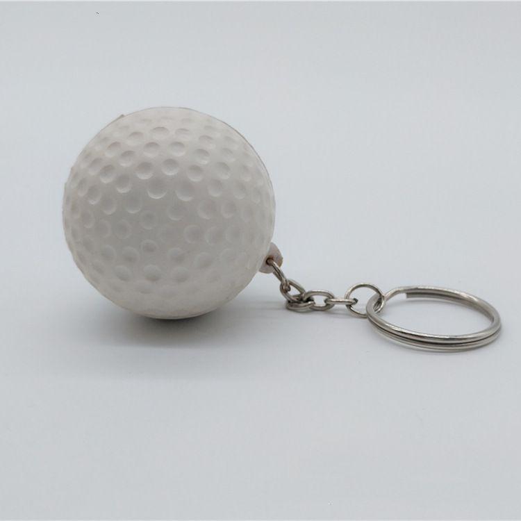 Wholesale PU Foam Golf Ball Stress Ball Key Chain