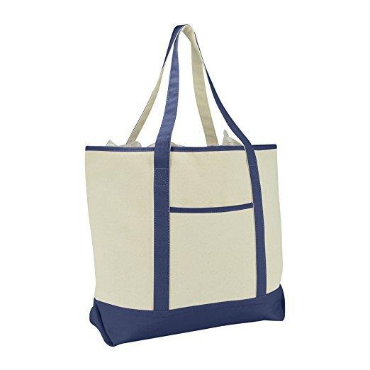 Customized logo blank Canvas tote shopping Bag