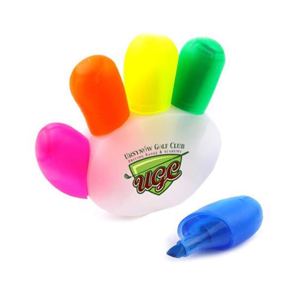 Promotional Custom logo Fluorescent Marker Pen Heart Shape Colored Highlighter Pen