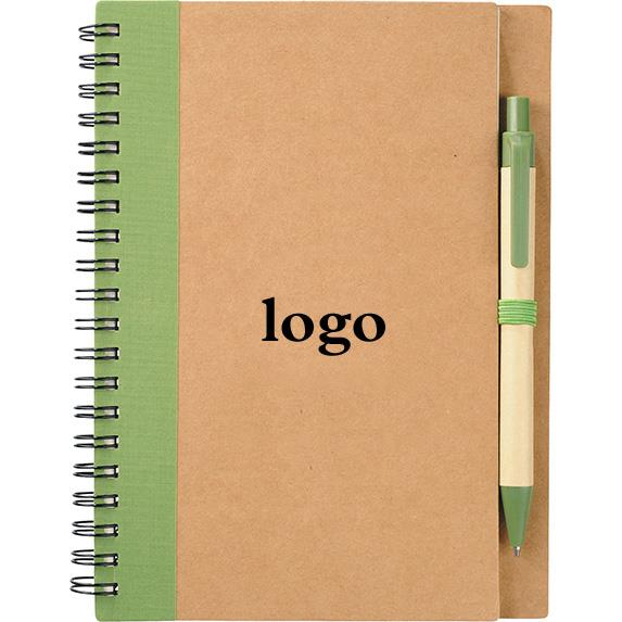 promotional eco custom notebook with pen