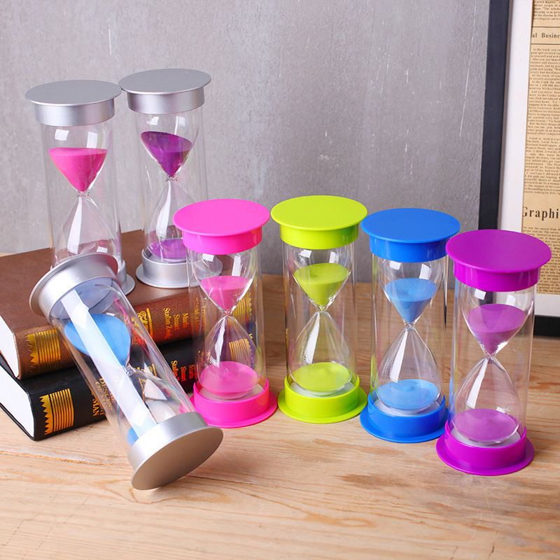 1M 5M 10M 15M 30M 45M 60M Plastic and Glass Colorful Sand Timer Hourglass