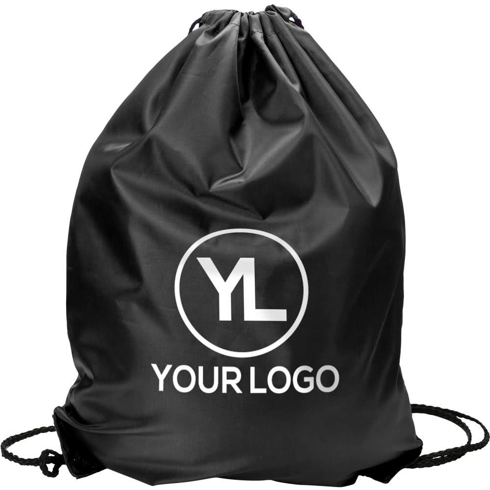 drawstring backpack with logo