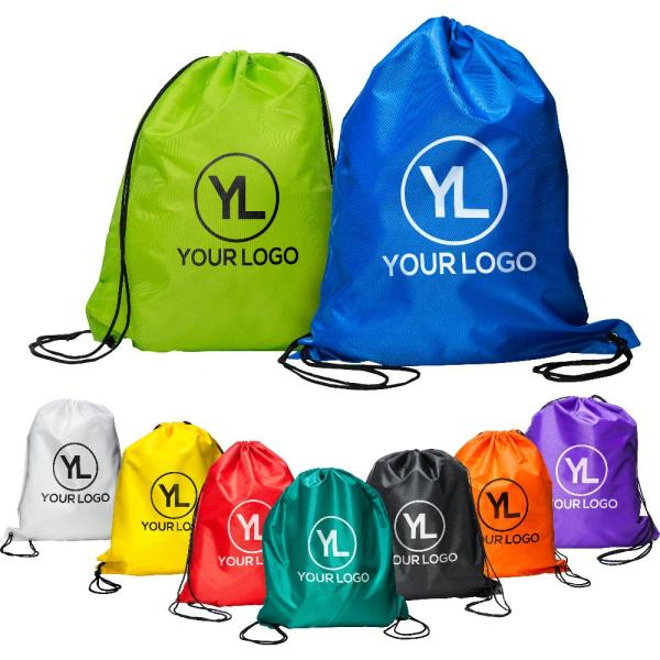 Custom logo promotional printing sport drawstring gym backpack bag