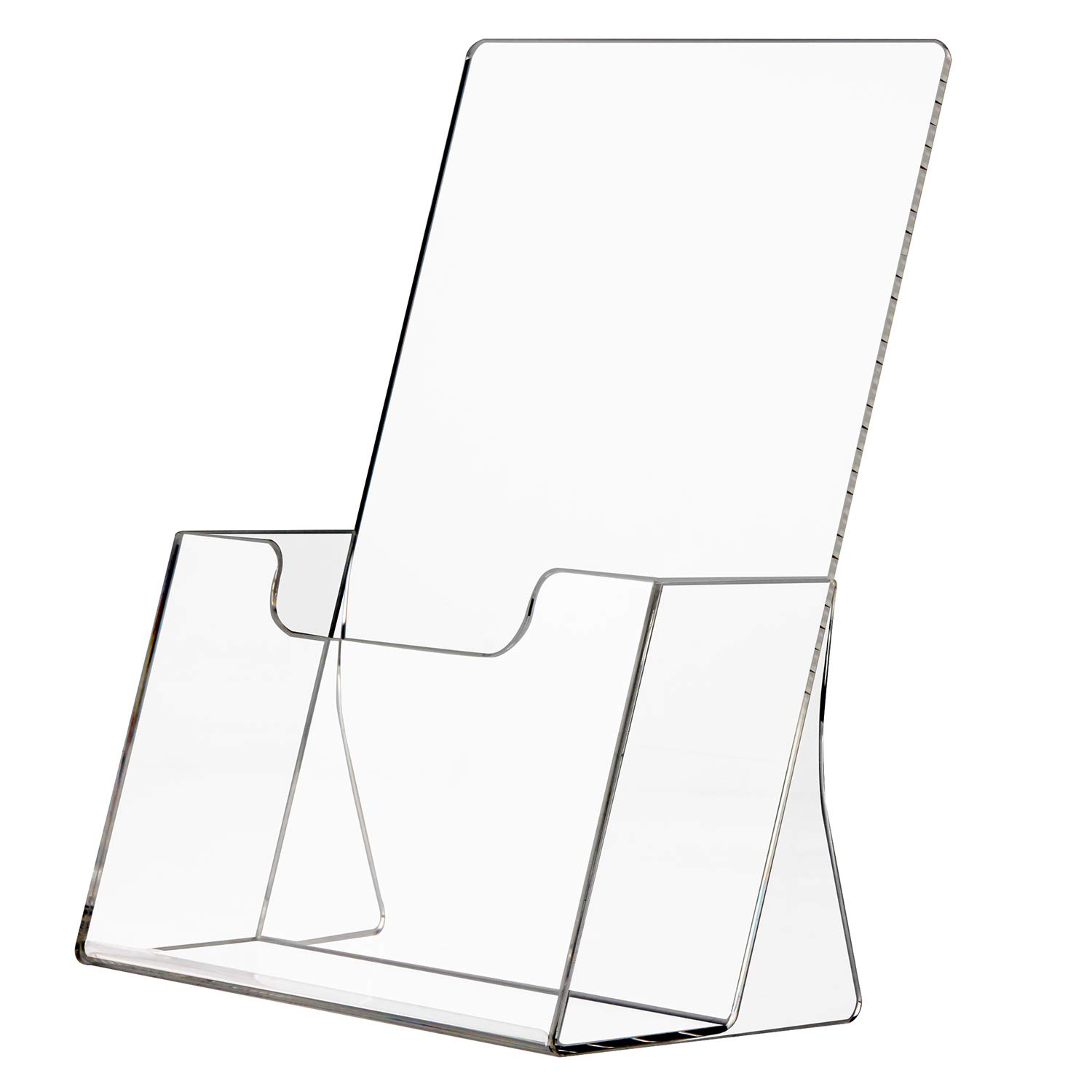 Clear Acrylic Brochure Wall Mount Sign Holder poster Sign Pocket with Business Card Holder