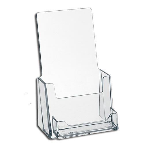 Custom Clear Acrylic Greeting Card Display Rack Plexiglass Lucite Tabletop Brochure Display Holder
