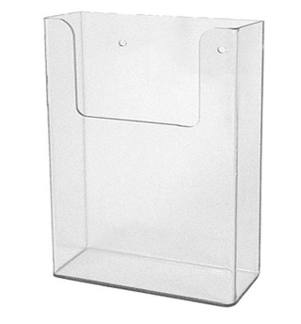 Single Pocket Acrylic Brochure Holder For Wall Mount