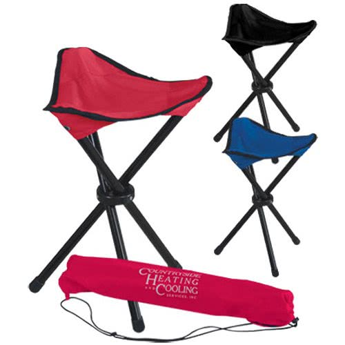 Folding Tripod Stool With Carry Bag, Mini folding stool beach chair