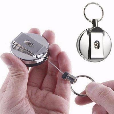 Metal Easy Pull Key chain Anti - theft Anti - loss Telescopic Keyholders