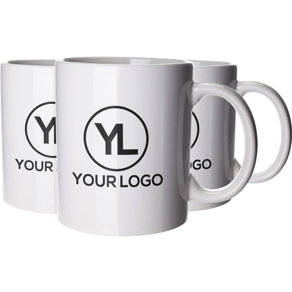 Advertising custom white porcelain coffee mug with LOGO