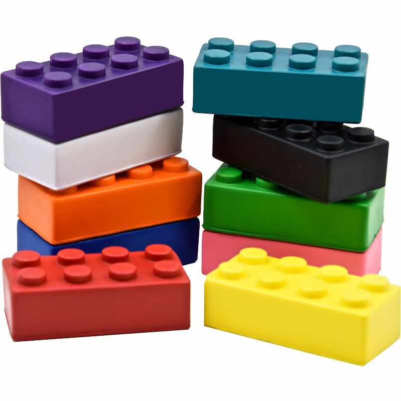Pu Stress Reliever Building Blocks,Stress Toy Ball