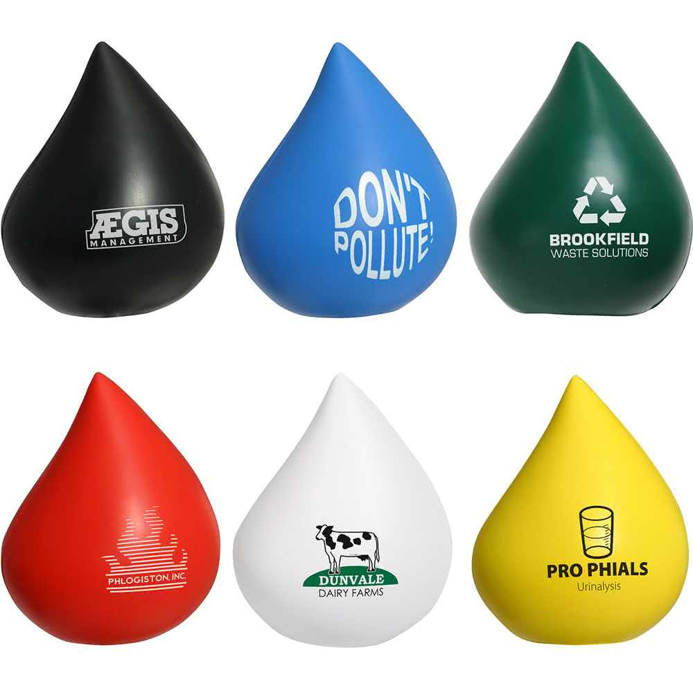 Promotional Droplet Stress Reliever, Droplet Promotional Stress Ball