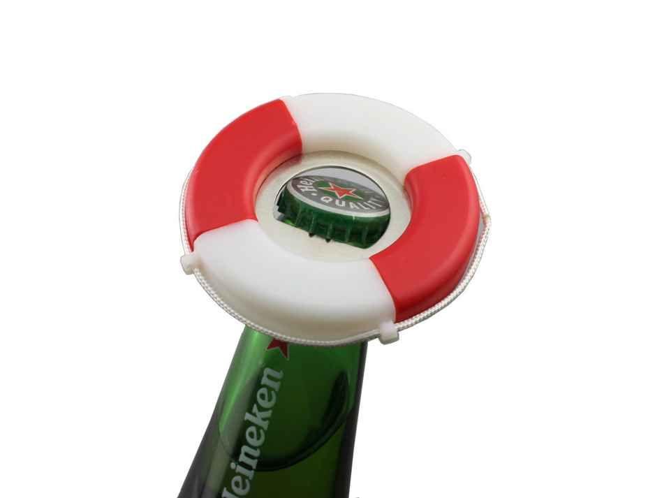 round life buoy shape beer cap bottle opener print logo