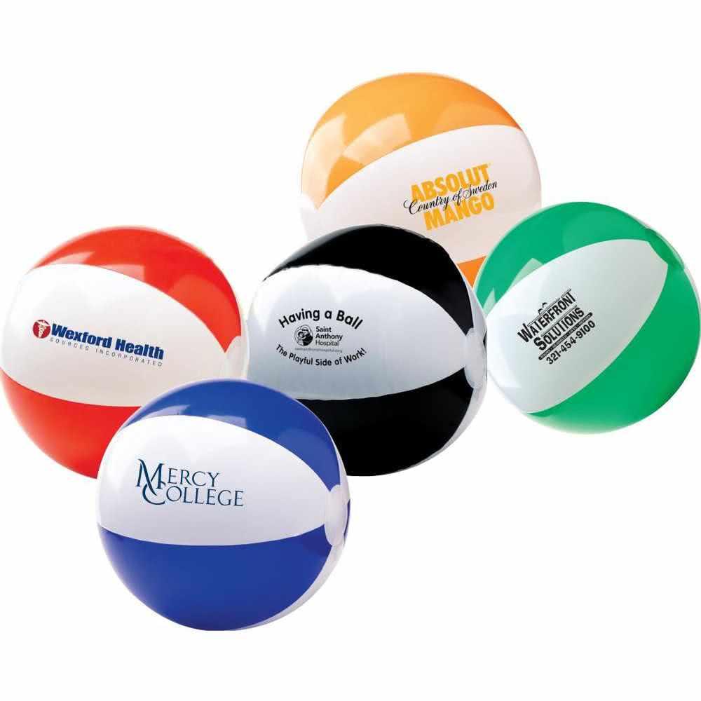 Custom PVC inflatable beach ball with logo printing