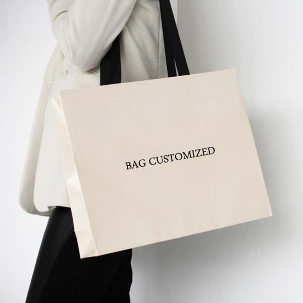 Customize design Kraft fancy shopping Paper bag printing