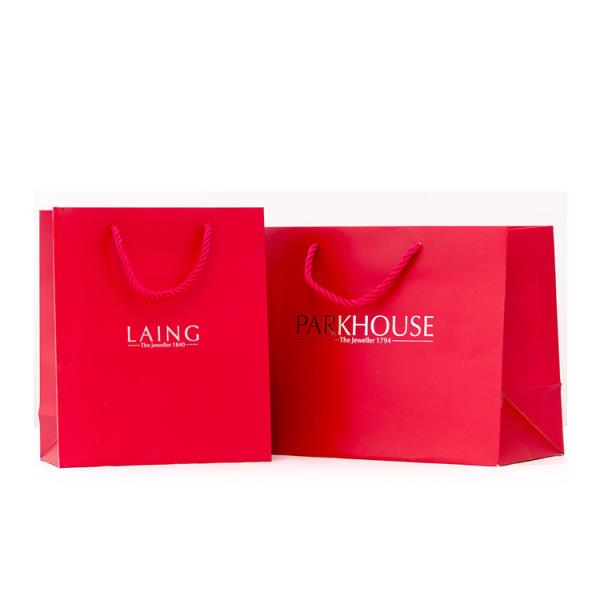 Luxury design high quality Europe standard custom paper bag for gift