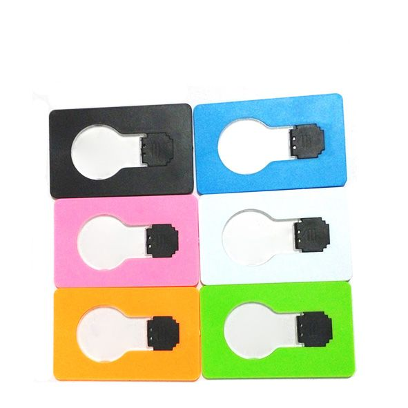 Wholesale Christmas Gift Bulb Shape LED Credit Card Light