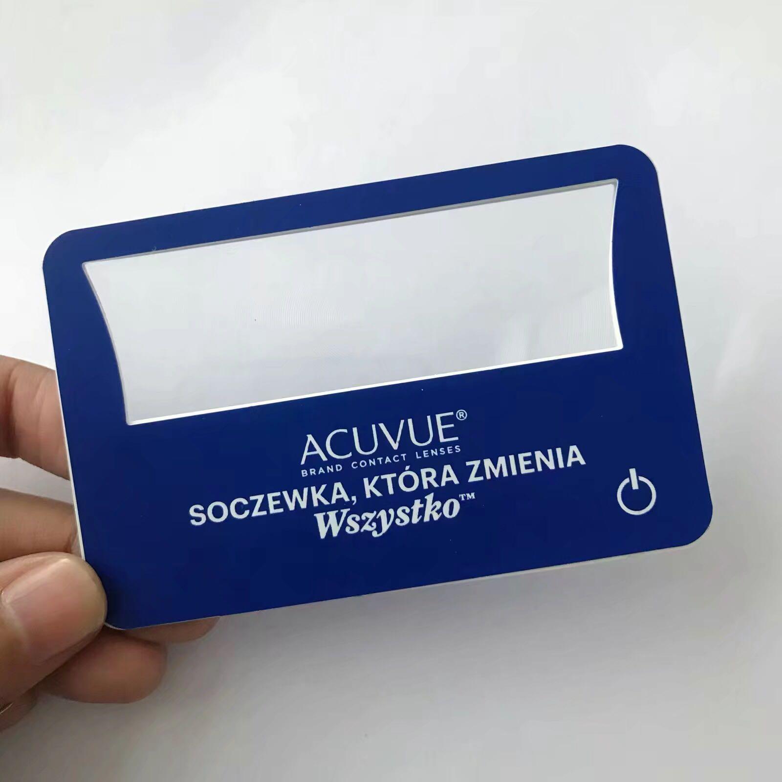 Credit Card Size Light LED Magnifier Magnifier with LED light