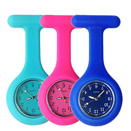 2019 High Quality Silicone Nurse Brooch Watch Tunic Fob Nursing Pendant Pocket Watches