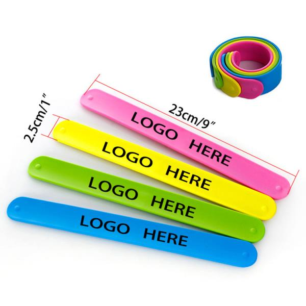 Promotional Silicone Slap Bracelet With Custom Logo