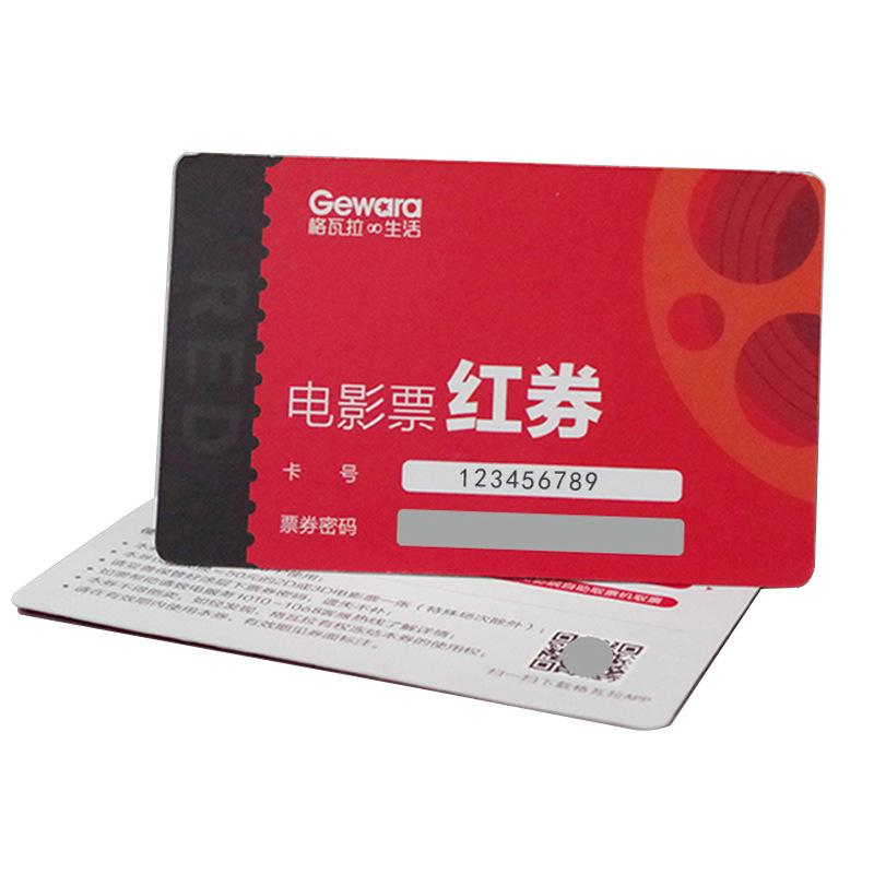 Custom CMYK Printing PVC Plastic Calling Card Scratch Recharge Prepaid Card