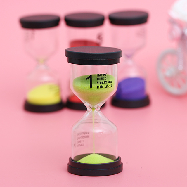 1~60 Minute Sand Hourglass Timer Plastic Glass Sandglass Clock Timer Home Decor Home Decoration Craft Ornaments Valentine Gifts