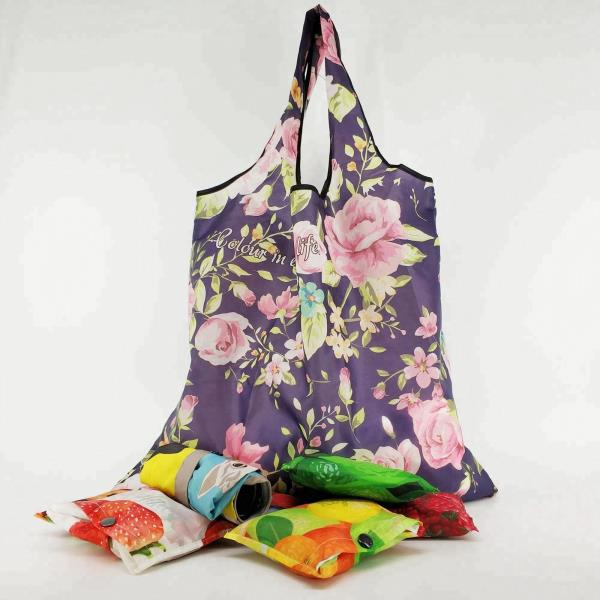 Custom Recyclable Foldable Polyester Shopping Bag with any pattern