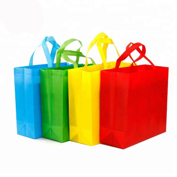 Color Shopping Bag Non-woven Tote Bag With Your Logo For Company Supermarket