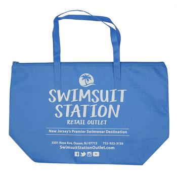 Promotional Reusable Polypropylene Custom Printed Pp Non Woven Shopping Bag With Zipper