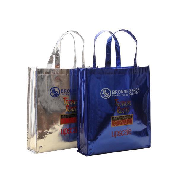 2019 Custom Design Cheap Recycled foil laminated Non Woven Bag, Folding Reusable Non-woven Shopping Bag