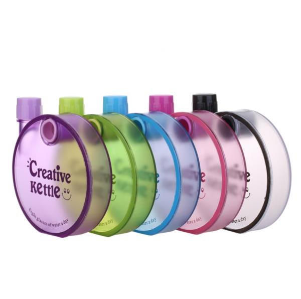 Factory supply 350ml cheap plastic water drinking bottle with lid