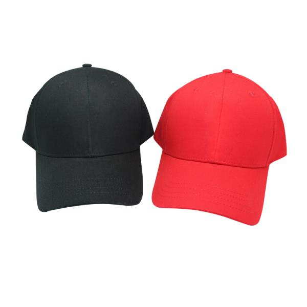 Factory supply custom logo cotton running red hat visor baseball cap