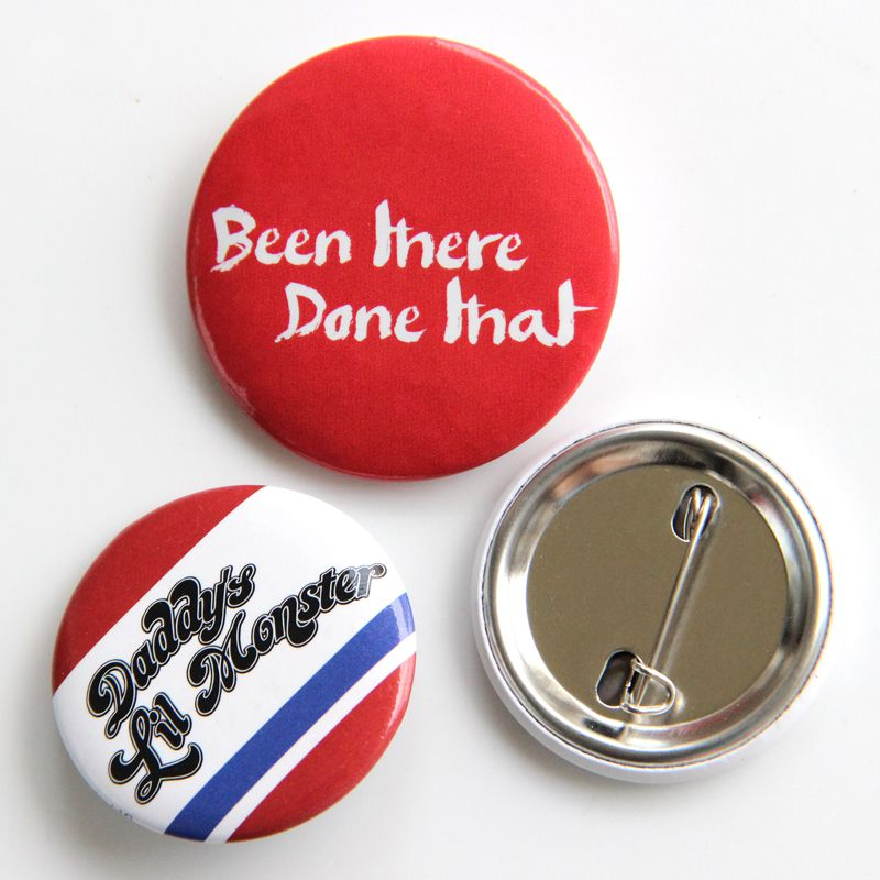 promotional items Custom metal pin button round novelty badge magnet button