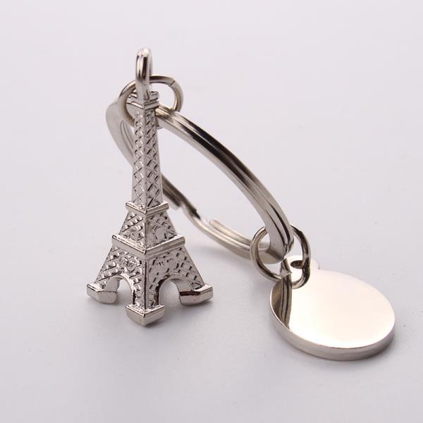 Artigifts Key Chain Factory Custom 3D Metal France Eiffel Tower Keychain