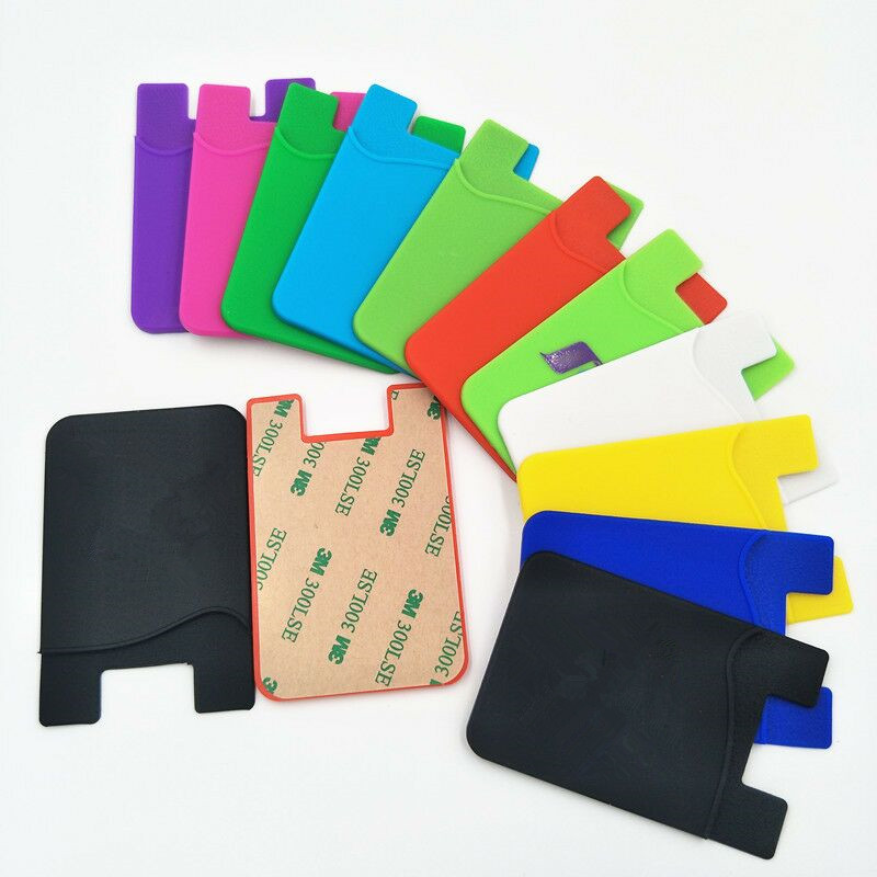 New products silicone smart wallet cell phone card holder