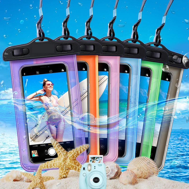 New products Universal Waterproof case for iphone X XS MAX 8 7 6s 5 Plus Cover Bag pouch bag Case with Lanyard