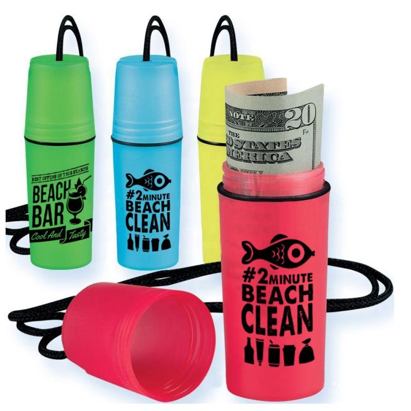 Logo printed waterproof plastic floating swim beach safe box