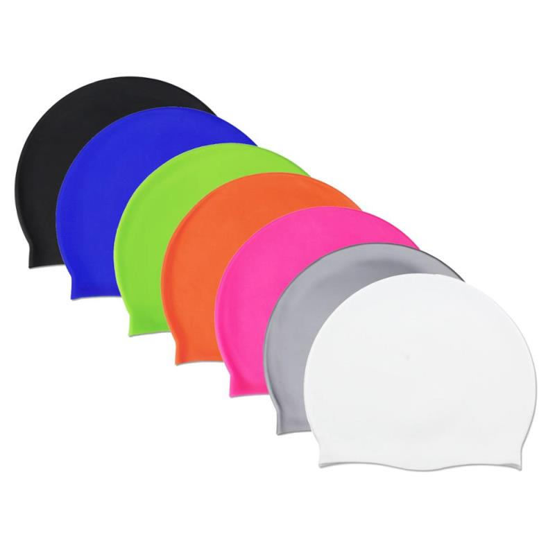 Premium Silicone Adult Swimming Caps Waterproof Swim Diving Hats