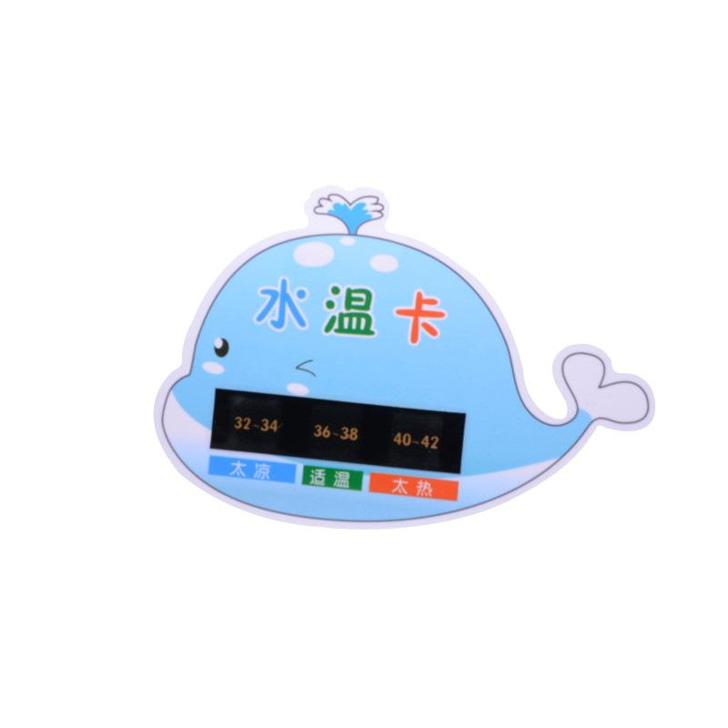 Plastic animal duck shape waterproof baby bath water thermometer card