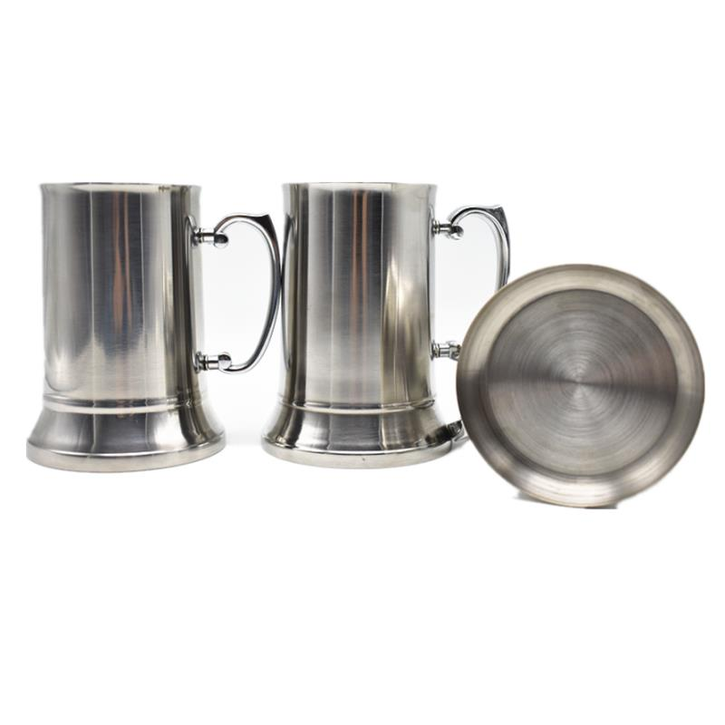 Mirror polish double wall stainless steel beer tankard stanley cup coffee mug
