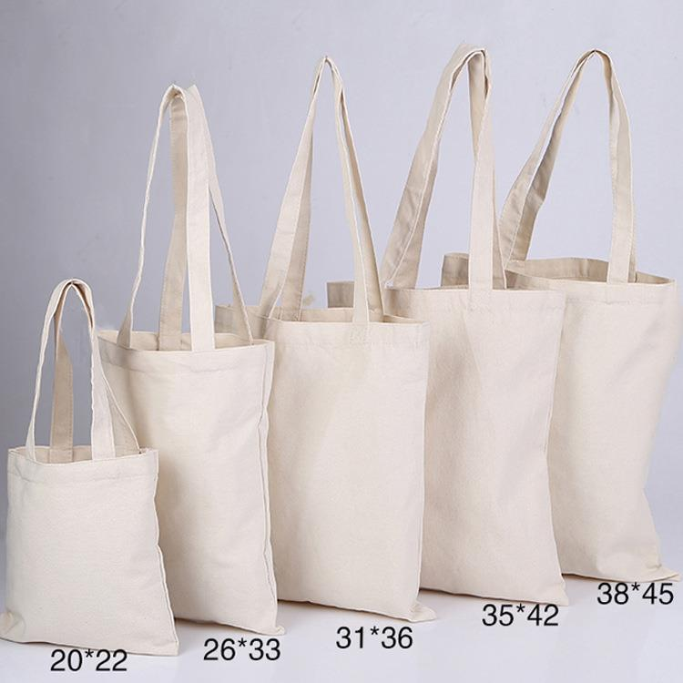 Eco Reusable Custom Cotton Canvas Tote Shopping Bags With Blank Printed