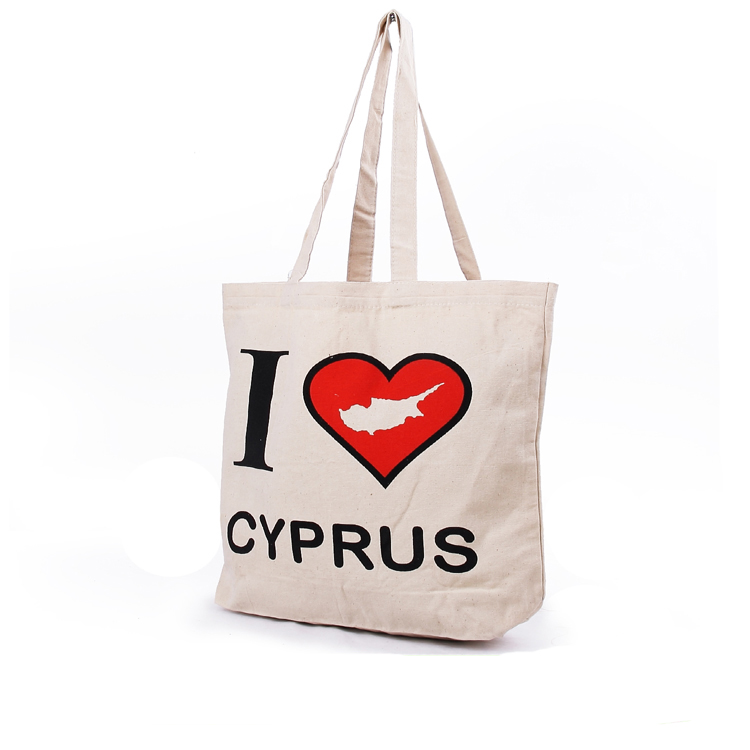 Custom reusable eco shopping canvas bag printed organic cotton tote bags