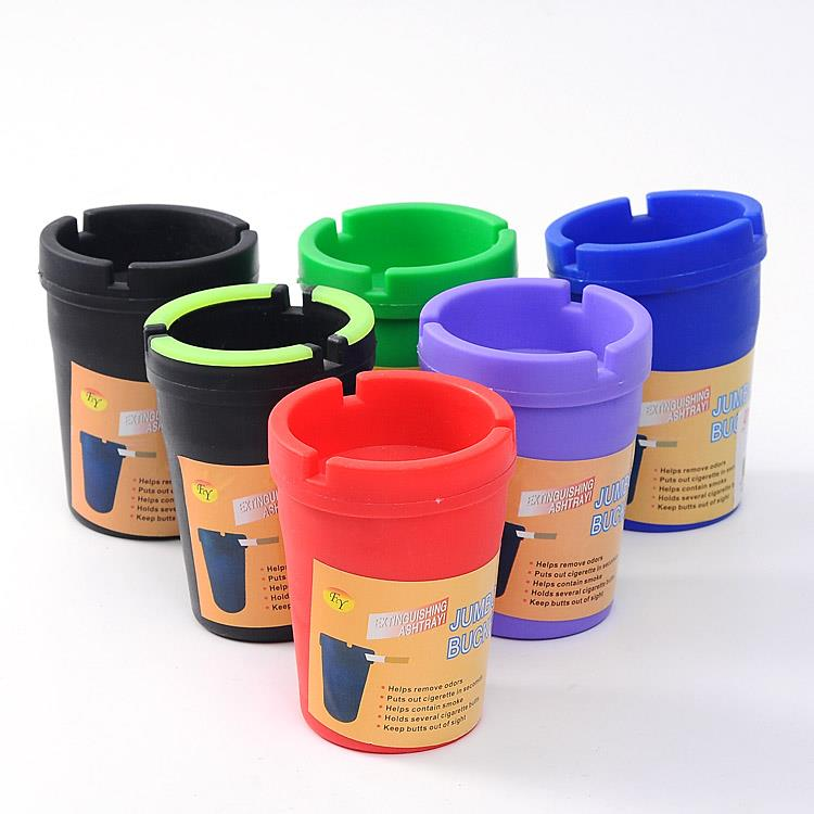 wholesale customized portable pocket melamine plastic material car ashtrays cigarette ashtray