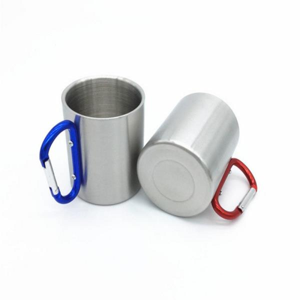 Promo good quality metal stainless steel carabiner mug